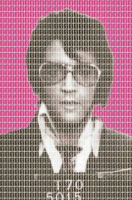 Elvis Mug Shot - Pink Original by Gary Hogben