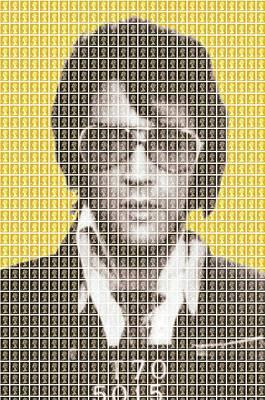 Elvis Mug Shot - Yellow Original by Gary Hogben