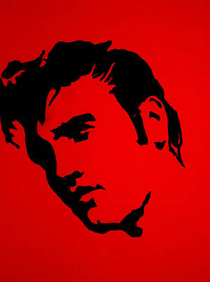 Stencil Of Elvis Painting - elvis on the set of True Blood by Robert Margetts