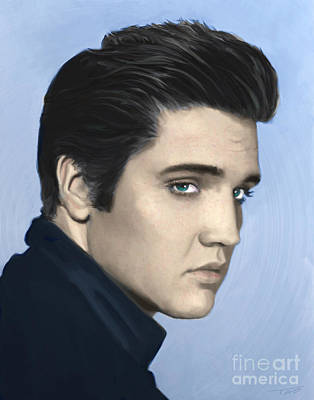 Songwriter Painting - Elvis by Paul Tagliamonte