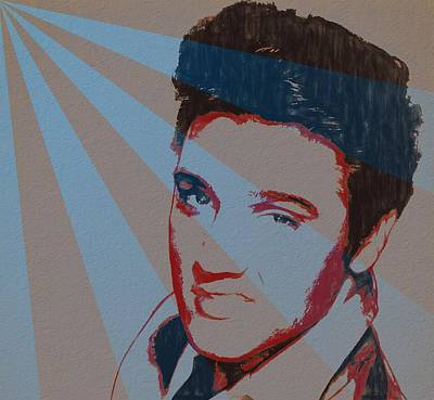 Elvis Pop Art Poster Art Print by Dan Sproul