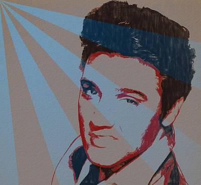 Music Paintings - Elvis Pop Art Poster by Dan Sproul