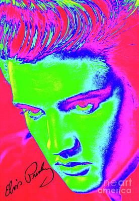 Elvis Preslely - Colourful  Art Print