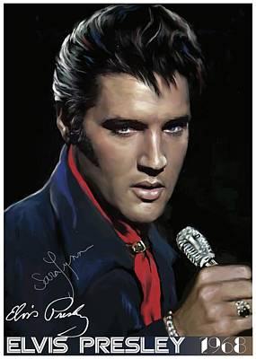 Elvis Presley ' 68 Come Back Special Original by Emre Yaprak