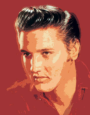 Elvis Presley - The King Art Print by David Lloyd Glover