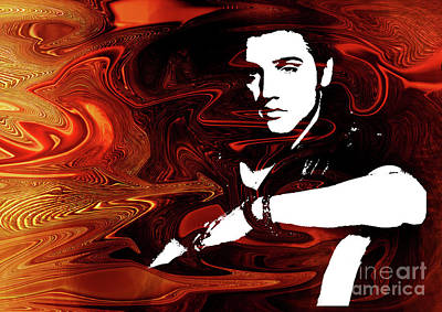 Elvis Presley Digital Art - Elvis Presley..  2 by Prar Kulasekara