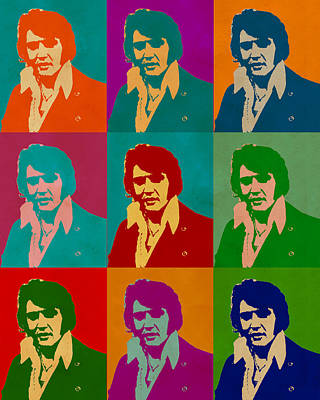 Digital Art - Elvis Presley by Anthony Murphy