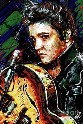 Elvis Presley Mixed Media - Elvis Presley Art by Ryan Rock Artist