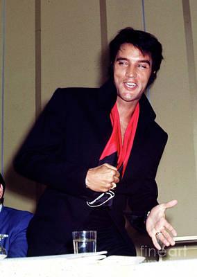 Elvis Presley At A Press Conference Fine Art Print Original