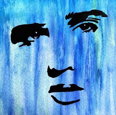 Elvis Presley Blue  Art Print by Shawn Brandon