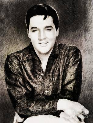 Elvis Presley Painting - Elvis Presley By John Springfield by John Springfield