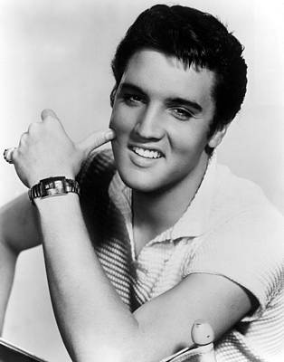1950s Movies Photograph - Elvis Presley, Ca. 1950s by Everett