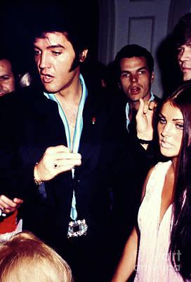 Elvis Presley Candid With Priscilla Presley Fine Art Print Original