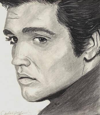 Elvis Presley Drawing Drawing - Elvis Presley by Christian Fralick