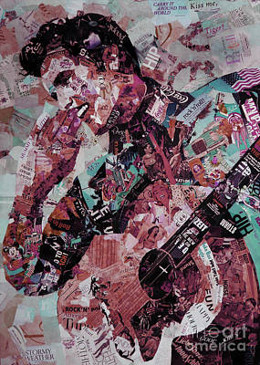Elvis Presley Collage Art 01 Original by Gull G
