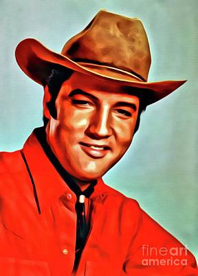 Elvis Presley Digital Art - Elvis Presley, Digital Art By Mary Bassett by Mary Bassett