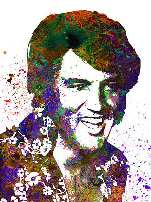 Singer Digital Art - Elvis Presley by Elena Kosvincheva