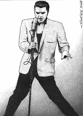 Elvis Presley I Art Print by Dan Clewell
