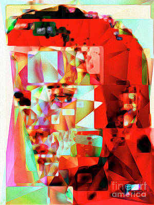Elvis Presley In Abstract Cubism 20170326 V3 Art Print by Wingsdomain Art and Photography