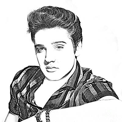 Drawing - Elvis Presley In Pen And Ink by Doc Braham