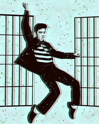Digital Art - Elvis Presley Jailhouse Rock by Joy McKenzie