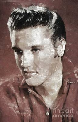 Music Royalty-Free and Rights-Managed Images - Elvis Presley, Legend by Esoterica Art Agency