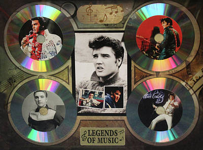 Photograph - Elvis Presley - Legends Of Music  by Doc Braham