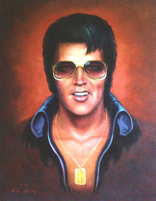 Elvis Presley Art Print by Loxi Sibley