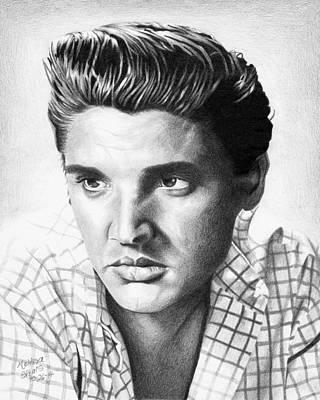Elvis Presley Drawing Drawing - Elvis Presley by Melissa Spears
