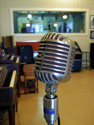 Photograph - Elvis Presley Microphone by Mark Czerniec