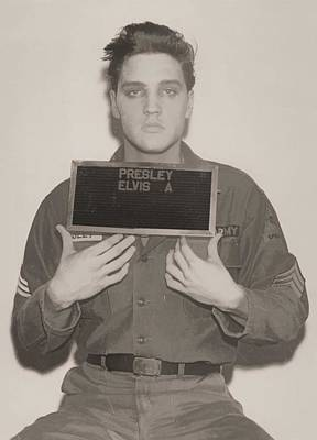 Music Digital Art - Elvis Presley Mugshot by Dan Sproul
