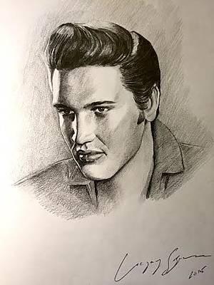 Elvis Presley Pencil Portrait Original