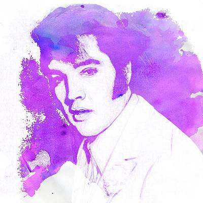 Music Paintings - Elvis Presley Pop Art by Esoterica Art Agency