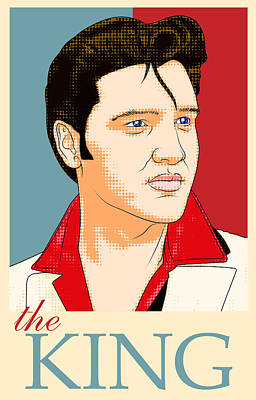 Elvis Presley Pop Art Art Print by Uri Uri