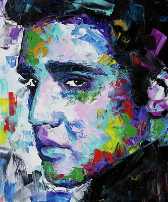 Painting - Elvis Presley Portrait by Richard Day