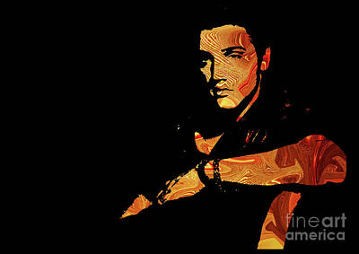 Celebrities Digital Art - Elvis Presley by Prar Kulasekara