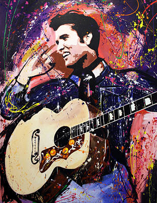 Elvis Presley Painting - Elvis Presley by Richard Day