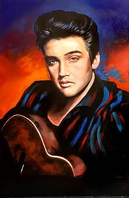 Painting - Elvis Presley by Robert Korhonen