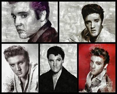 Elvis Presley Painting - Elvis Presley, Singer by Esoterica Art Agency