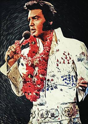 Rhythm And Blues Digital Art - Elvis Presley by Taylan Apukovska