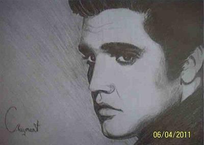 Elvis Presley Drawing Drawing - Elvis Presley The King by Charlie Rayment