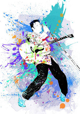 Digital Art - Elvis Presley - The King by Marlene Watson