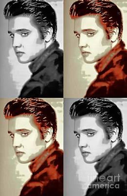 Digital Art - Elvis Presley The King - Pop Art by Ian Gledhill