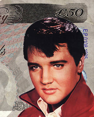 King Of Rock And Roll Digital Art - Elvis Presley by Unknown