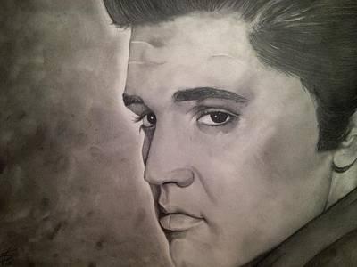 Elvis Presley  Art Print by Wesley Stults