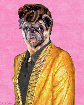 Digital Art - Elvis Pugsley - The King by Mark Tisdale