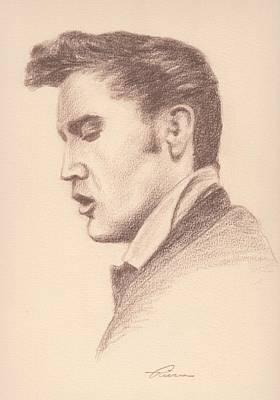 Elvis Art Print by Reggie Rivera