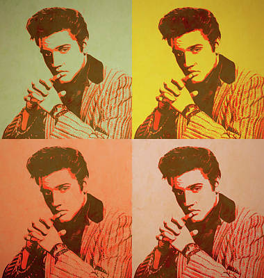 Elvis Retro Pop Art Art Print