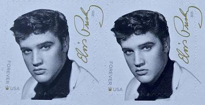 Photograph - Elvis Stamps by Caroline Stella