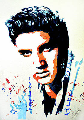 Painting - Elvis by Steven Ponsford